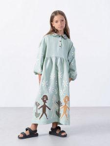 Вышиванки детские Вышитое платье с апликацией Kolo Day