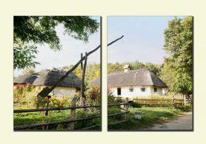 Модульные картины Украинская деревня №1