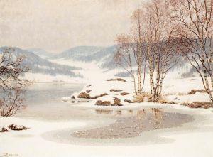 Фьюэстад Гюстав Снег на замерзшем озере