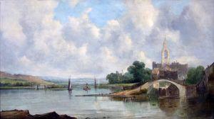 Викерс Альфред Европейский речной пейзаж