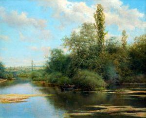 Санчес-Перье Эмилио Рыбалка в реке