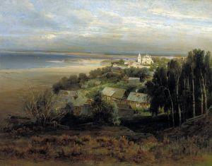 Саврасов Алексей Печёрский монастырь у Нижнего Новгорода