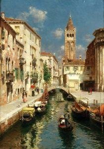 Санторо Рубенс Гондола на венецианском канале №2