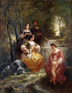 Монтичелли Адольф Жозеф Тома Женщины в парке