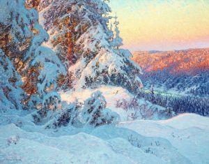 Шультцберг Ансельм Зимний снежный пейзаж №2