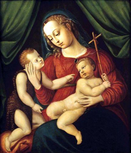 Круг. Мадонна с Мадонной и юным Иоанном Крестителем
