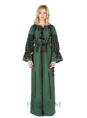 """Платье вышиванка """"Зелёная роща"""""""