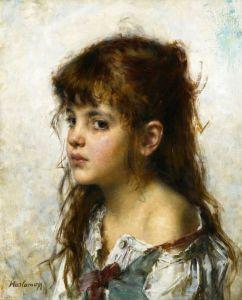 Харламов Алексей Портрет девушки