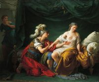 Алкивиад на коленях перед своей любовницей