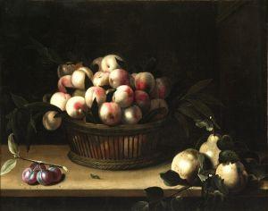 Муайон Луиза Корзина с персиками, айва и слива