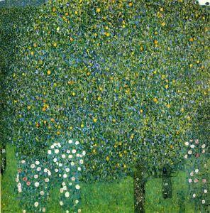 Климт Густав Розы под деревьями