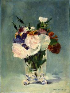 Мане Эдуард Цветы в хрустальной вазе