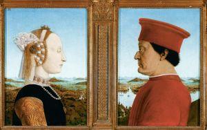 Франческа делла Пьеро Портрет герцога Федериго Монтефельтро и герцогини Баттисты Сфорца