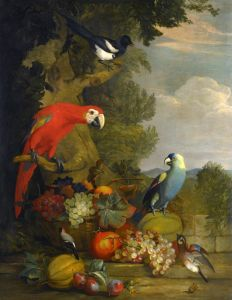 Барокко Натюрморт с фруктами и птицами 3