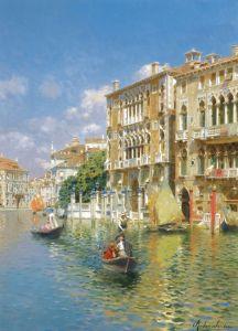 Санторо Рубенс Гондолы перед Палаццо Кавалли-Франкетти, Венеция