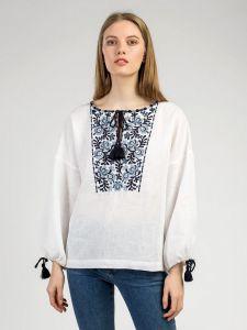 Вишиті сорочки жіночі Біла лляна вишиванка Frozen