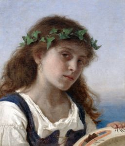 Реализм Девушка с тамбурином