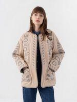 Бежевое двустороннее пальто Bukovyna