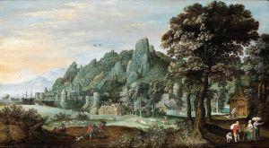 Барокко Пейзаж с рейнским поселком