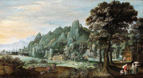 Пейзаж с рейнским поселком