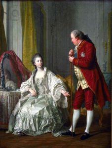 Ван Лоо Луи Мишель Маркиз де Мариньи с женой