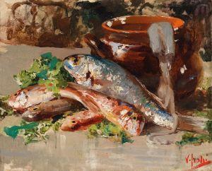 Иролли Винченцо Натюрморт с рыбой