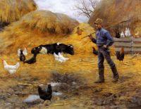 На скотном дворе