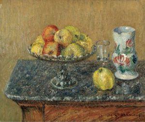 Луазо Гюстав Фруктовая чаша с яблоками и кувшином