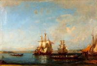 Деревянные лодки и парусники в водах Босфора