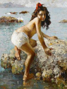 Иролли Винченцо Девочка на скале