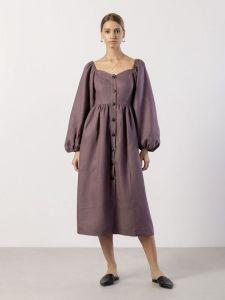 Вишиті сукні Лляна сукня в бохо стилі Hay Gray
