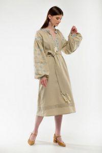 Женские вышиванки Платье вышиванка Спадок беж