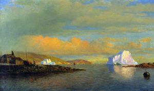 Брэдфорд Уильям Закат солнца в Арктике