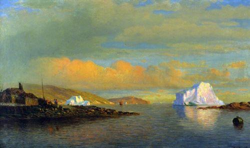 Закат солнца в Арктике