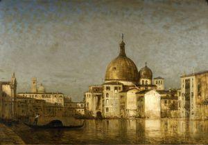 Зим Феликс Церковь св. Симеона малого, Гранд-канал, Венеция