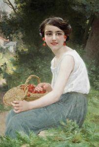 Синьяк Гийом Девушка с вишнями