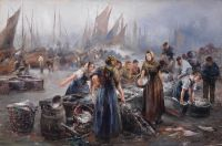 На рыбном рынке