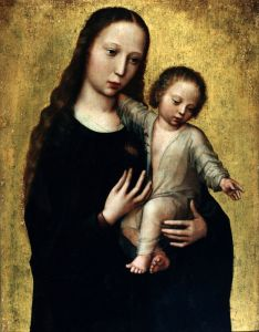 Бенсон Амброзиус Богородица с ребенком в рубашке