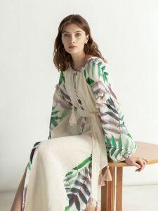 ЕтноДім Легка лляна сукня з рослинним принтом в бохо стилі Legend
