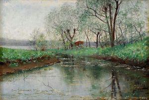Йоханссон Карл Устье реки весной