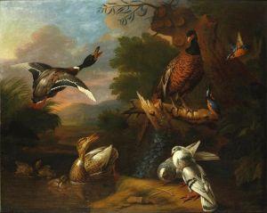 Барокко Птицы в пейзаже 2
