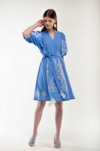 Женские вышиванки Платье вышиванка Мылося голубое