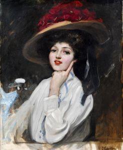 Соролья Хоакин Портрет молодой женщины в шляпе, созданном Ракель Меллер