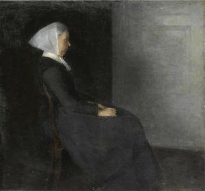 Символізм Фредеріка Амалія Хаммершей (1838-1914), уроджена Ренцман, мати художника