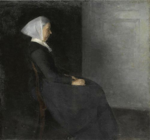 Фредерика Амалия Хаммершей (1838-1914), урожденная Ренцман, мать художника