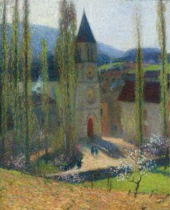Мартен Анри Церковь в Ла Бастид-дю-Вер пополудни