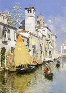 Санторо Рубенс Гондола на венецианском канале №3