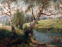 Берези на березі річки