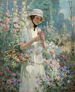 Грейвс Эббот Фуллер Женщина с корзиной цветов
