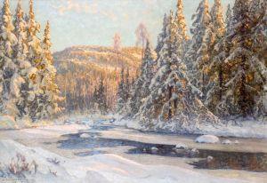 Шультцберг Ансельм Зимний пейзаж в Даларне